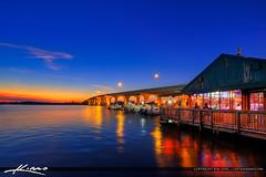 Riverside Cafe on the Indian River Merril P Barber Bridge Vero Beach (Captain Kimo) Tags: aurorahdr2017 captainkimo florida hdrphotography indianriver merrilpbarberbridge photomatixpro riversidecafe sunset verobeach indianrivercounty