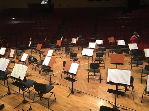 Preparation for #Beethoven No. 5 in #FilharmoniaDolnoslaska #NiederschlesischePhilharmonie #JeleniaGora #Hirschberg #DariuszMikulski