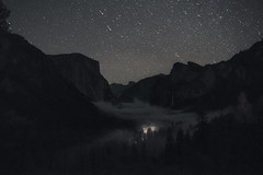 Welcoming Shower (shaunezell) Tags: keywords 3030 stars  night sky clouds light long exposure lights dark beautiful trees travel beauty girl nature yosemite valley national park mountains mountain galaxy fog foggy cloud cloudscape nightscape landscape landscapes white adventure