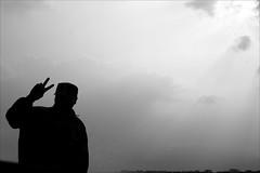 V (*Kicki*) Tags: man person people silhouette sky myanmar burma shanstate inlelake inle inlaylake inlay skipper driver boat v 50mm cool
