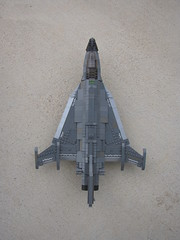 EF-74 (Above View) (.Tyler H) Tags: ef71 doulbe delta snarl lego razorback aircraft military ef74 cranked wing f16xl