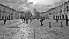 Moving On (Rae-J09) Tags: italy italia turin torino piazzasancarlo square piazza travel europe piemonte piedmont