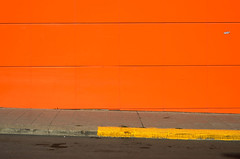 yellow vs orange (   ) Tags: road above park street light shadow sky orange sun abstract color colour reflection art lines yellow architecture composition contrast concrete photography lights mirror alley alone sofia outdoor low picture streetphotography minimal line bulgaria l rays cubes minimalism limited minimalistic