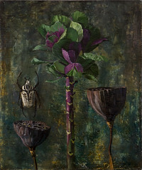 (viktoria_kataeva) Tags: painting lotus beetle cabbage naturemorte oiloncanvas goliathus