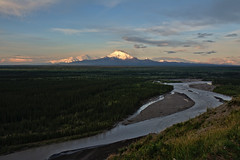 Mt. Drum (Lee Petersen) Tags: sunset summer alaska nationalpark wrangell mtdrum copperriver stelias