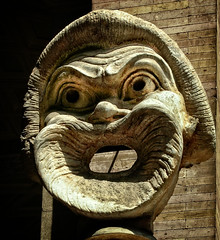 Roman mask (Tiigra) Tags: rome lazio italy it 2007 carving circle face sculpture shape vatican