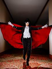 Tuxedo Mask () (btsephoto) Tags: portrait moon anime lens hotel dallas costume texas fuji play mask animefest cosplay iii flash tuxedo r chiba convention fujifilm sailor 1855mm sheraton lm fujinon  xf mamoru ois afest xt1 f284  yongnuo yn560