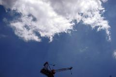 DSC08634c (haru__q) Tags: leica sky cloud crane sony   elmar a7