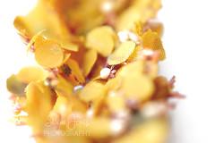 Mustard florals (Serena178) Tags: macro macromonday mustard mysterious yellow flowers headpiece explore canon5d canon photography flickr closeup fabric handmade pov blur