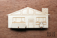 6by6Arts_PopUpVillage12 (thea superstarr) Tags: wood houses holiday modern century village handmade birch kit popup maker pnw mid midcenturymodern madeinusa mcm lasercut laserengraved 6by6arts