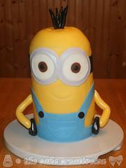 Minion Birthday Cake (TheCakeCreative) Tags: cake kevin fondant minions buttercream cakedecorating vanillacake marshmallowfondant rolledfondant buttercreamicing cakedesign minon despicableme minioncake kevinminion kevincake kevinminioncake
