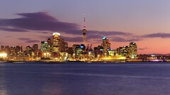 good evening auckland #2 (mugley) Tags: city longexposure travel pink sunset newzealand sky urban water skyline architecture night clouds digital buildings lights evening iso200 cityscape skyscrapers purple zoom towers kitlens olympus cranes auckland nz northisland skytower cropped suburbs cbd f11 omd devonport urbanlandscape 6s aucklandharbour cloudage 1442 42mm em5 zoomedin stoppeddown mirrorless micro43 microfourthirds mzuiko1442mmf3556iir olympusem5 waitematāharbour