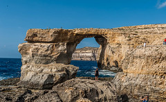 Azure Window Gozo (swordscookie) Tags: sea sun swimming boats divers rocks mediterranean waves arch exploring scuba diving malta lagoon huts ribs cave swell skinnydipping gozo seacave azurewindow selfies