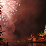 Regensburg – fireworks at the river banks