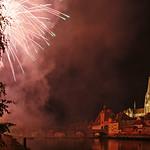 Regensburg – fireworks at the river banks