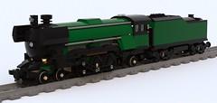 4-6-2 Emerald Night (Improved) (TF Twitch) Tags: night digital train lego pacific designer engine steam locomotive passenger improved emerald ldd 462 10194
