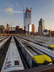IMG_7412_3_4_5_fused (Sebastian Sinisterra Photography) Tags: road street new york city nyc blue yards sky st clouds buildings island construction long afternoon angle manhattan towers wide rail rr trains ave 24 hudson mm 24mm 12 avenue 12th lirr 34 34th th hdr av 12av