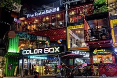 Color Box (YipKinWai0769) Tags: china blue red people color green yellow scenery colorful fuji purple box container fujifilm  greentree dongguan colorbox   dongguancity x100t