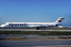 Spanair MD-83 EC-HJB BCN 22/01/2000 (jordi757) Tags: barcelona nikon airplanes bcn kodachrome douglas f90x kodachrome64 avions mcdonnell elprat md83 spanair lebl echjb