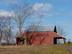 Barn (Dendroica cerulea) Tags: autumn trees sky building clouds barn buildings newjersey farm nj farmland hopewell mercercounty fav10 stmichaelsfarmpreserve
