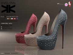 Evelynn :: Shoes :: 10 Colors ({kokoia}) Tags: woman high shoes mesh platform sl pump heels heel tmp evelynn maitreya slink secondlfie kokoia themeshproject