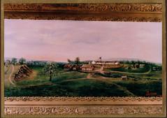 Ft Winnebago Painting, I A Ridgeway, c 1896