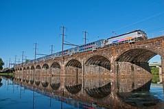Stone Arch Speed-Stripes (Adrian Corus) Tags: trenton speedstripes northeastcorridor nec bridge prr river delaware 7822 4663 alp46a alp46 alp rail train newjerseytransit njtransit njtr njt