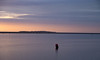 Hilbre Illuminated (cathbooton) Tags: colour wirral merseyside riverdee sky buoy coast people walkers walking walk september sunset water lake canon6d canoneos canonusers hilbreisland