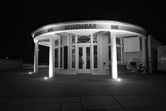 milchbar at night (winne pu) Tags: longexposure germany norderney milchbar meineinsel bw monochrome night