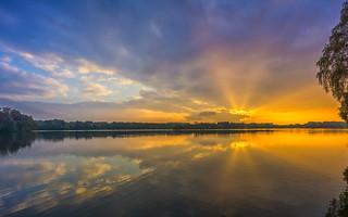 sunset at Lake Unterbach