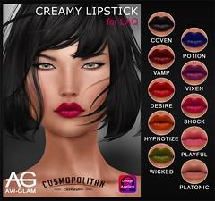 AG. Creamy Lipstick (Avi-Glam) Tags: lipstick omega applier aviglam laq ag head mesh creamy makeup cosmopolitan