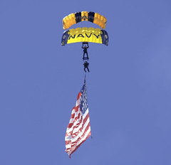 Army Navy Colors (dcnelson1898) Tags: marinecorpsairstationmiramar marinecorps marines sandiego california mcasmiramar 2016mcasmiramarairshow airshow airplanes jets helicopters usarmy goldenknightsparachuteteam leapfrogs usnavy freefall skydiving parachute airborne