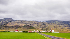 Farm below Eyjafjallajkull (TheSimonBarrett) Tags: iceland lveldi sland eyjafjallajkull volcano farm