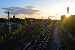 Bahnhof Emmerich, 10-08-16 (Danil de Ruig) Tags: emmerik bahnhof station emmerich db diebahn bahn spur schienen weichen oberleitung sonne zon wissels tracks switches sun gleis