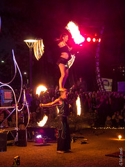 Nightfest (Pursuedbybear) Tags: canberra canberra2016 floriade nightfest fire firetwirling oftheflame commonwealthpark
