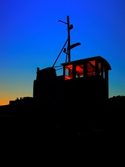 Silhouette & colors (Siggi007) Tags: silhouette silhouettes black schwarz blue blau bluehour night boat ship colors colores colour sky shape red light mood tugboat canon evening eos tranquil illumination outdoor picture photo amazing abend autumn seaside dark docked dawn foto flickr farben fotografi himmel outstanding exposure contrasts canoneos60d vessel beautiful serene sunset pov