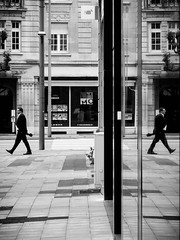 Copy/paste (SibretManu) Tags: streetphotography portrait street black white bw candid going moments decisive moment creative commons flickr flickriver explore eyed eye scene strassenfotografie fotografie city square squareformat photography