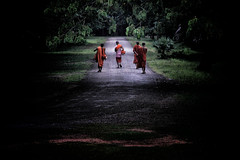 Cambodian Monks Doing Morning Alms (El-Branden Brazil) Tags: cambodia bayon cambodian angkorwat angkorthom siemreap ancient sacred temples mysterious mystery buddhism buddhist southeastasia terraceoftheleperking