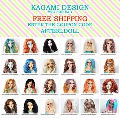 Free shipping event (Kimirra) Tags: bjd abjd kagamidesign angorawig alpaca alpacawig bjdalpacawig colorfulhair colorfulwig sd msd tiny soom lillycat minifee etsy