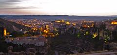CUENCA (Nacho Alexeric) Tags: 3estrellas raw ciudades espaa paisaje noche luces canon eos 7d pais vasco castilla la mancha cielo hdr