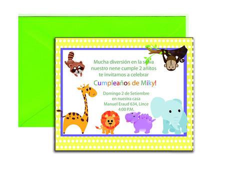 Tarjetas De Invitacion Fiestas Infantiles Niños