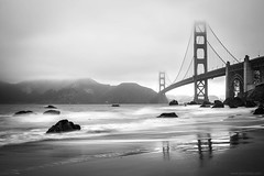 the bridge (jrockar) Tags: filter nd ndfilter standard lens prime 5014 14 f14 50mm 50 photography journey trip travel oncearoundthesun rwt world sun around once idiot janrockar jrockar beautiful karlthefog disappearing 3 iii mark mk 5d canon cityscape view bakerbeach baker beach sf area bay weather structure architecture mist fog blur motion wave ocean sea slowshutter longexposure blackandwhite mono bw california usa sanfrancisco bridge gate golden landscape marshalls
