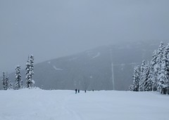 Don't lose speed, kids (Ruth and Dave) Tags: skiers children mother whistler whistlerblackcomb whistlermountain powder trees skiing skiresort piste mountain weather weatherphotography