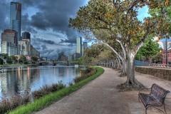 #36 / 100x - Along The Banks Of The Yarra (DaveFlker) Tags: melbourne skyline yarra river hdr rialto