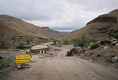 Route dvie (louis de champs) Tags: minoltasrt101 mdwrokkor35mm28 film kodak portra160 morocco road roadtrip river damages destroyed oued