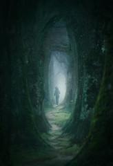 Into the light (@hipydeus) Tags: trees grove mist nebel jogger bayern bavaria