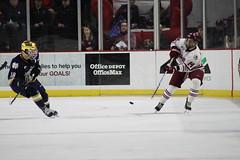 Ice Hockey VS Notre Dame (dailycollegian) Tags: jongmankim umass umassamherst umassathletics umasshockey hockey icehockey universityofmassachusetts minutemen minutemanhockey mullins mullinscenter austinplevy passing forward