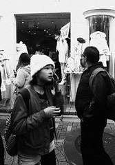call (jumppoint5) Tags: harajuku tokyo urban people street city blackandwhite japan call
