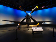 The North American P-510 Mustang (Steve Taylor (Photography)) Tags: p510 mustang museum sign blue black yellow nz newzealand southisland canterbury christchurch plane aeroplane aircraft airforce fighter propeller wigram wing