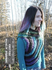 Huntress Cowl 01b (zreekee) Tags: sparkledoomdesigns saskatchewan handmade crochet canada rhiannon cowl hungergames